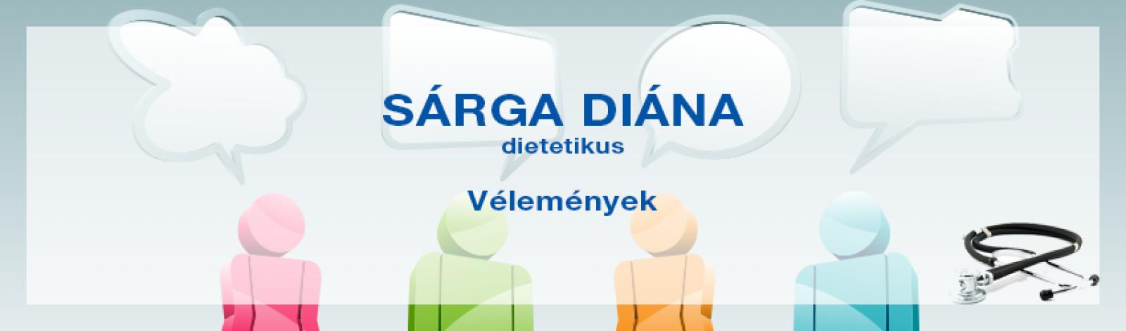 Vélemények Sárga Diána dietetikusról