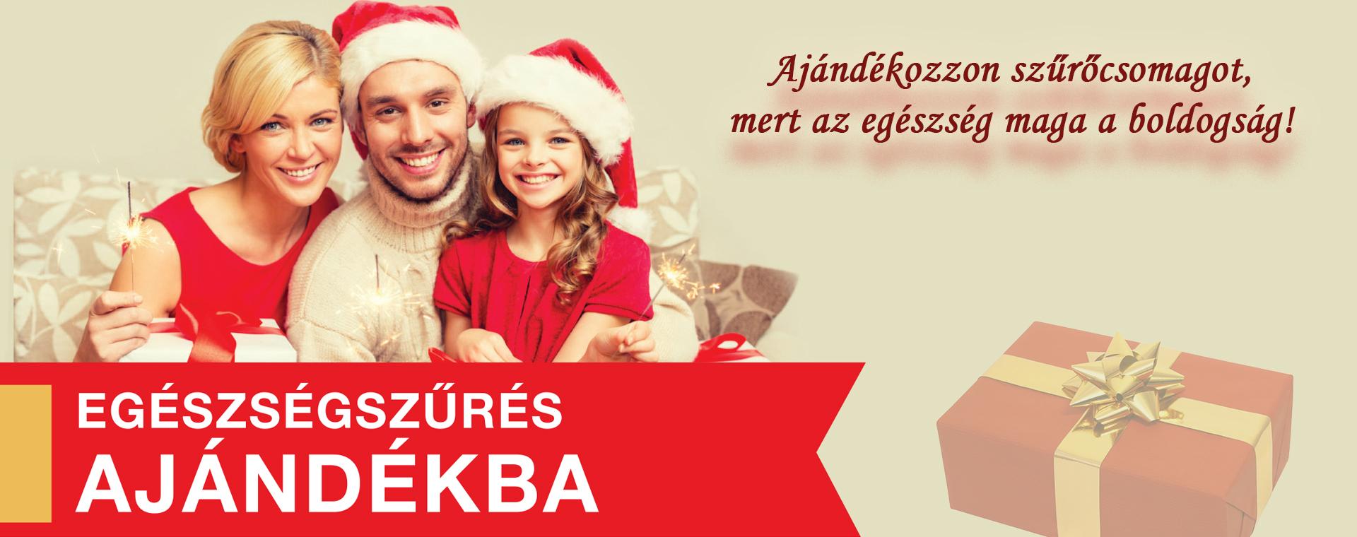 Karácsonyi ajándék: egészségszűrés!